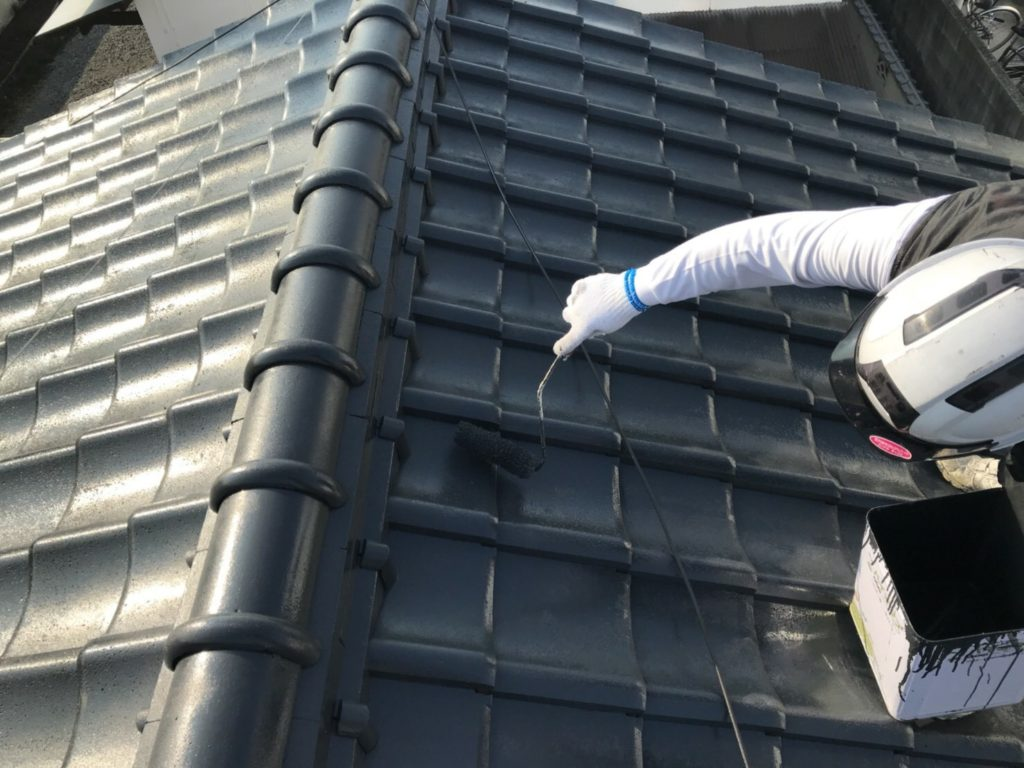 セメント瓦 屋根塗装