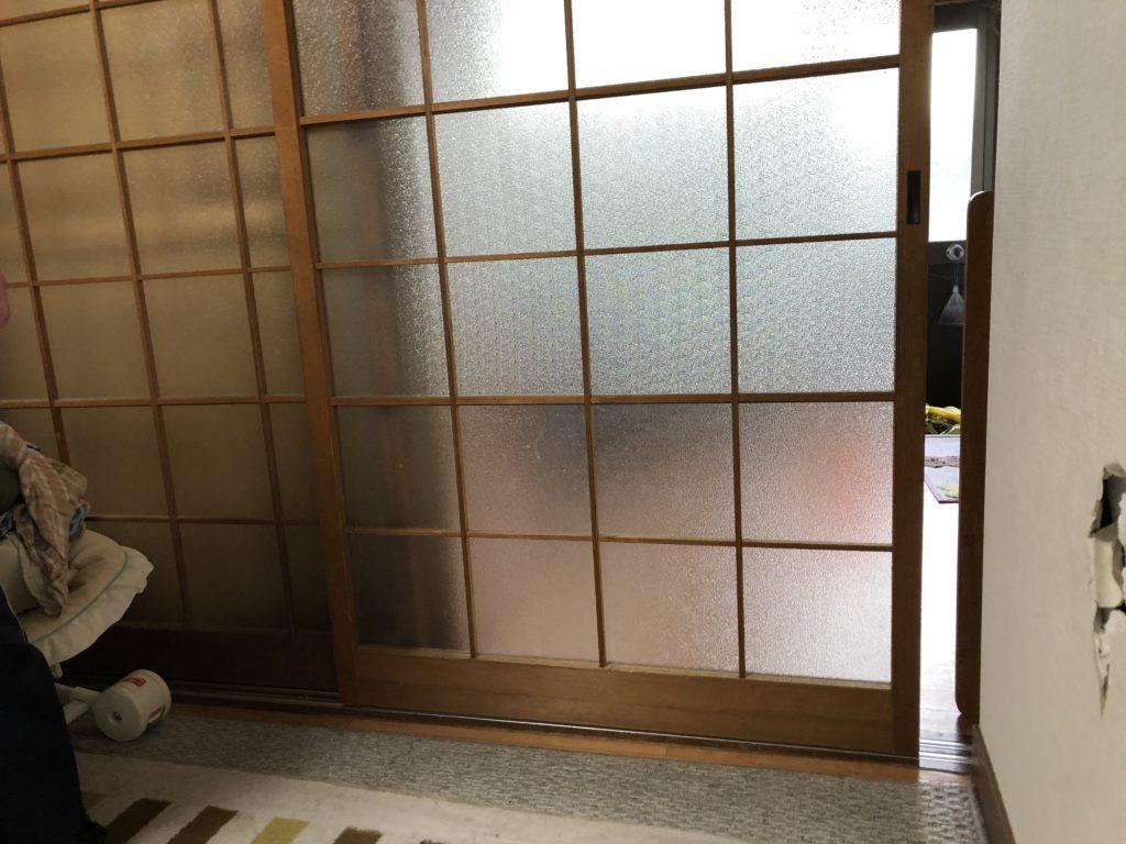 室内建具 ガラス改修