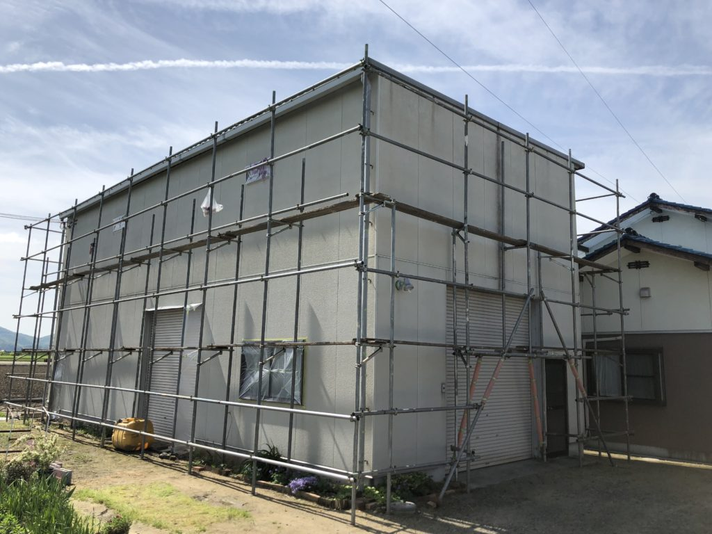 外壁塗装 仮設工事 足場