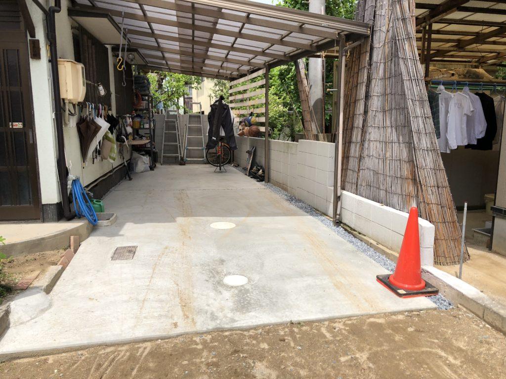 外構工事 土間コンクリート