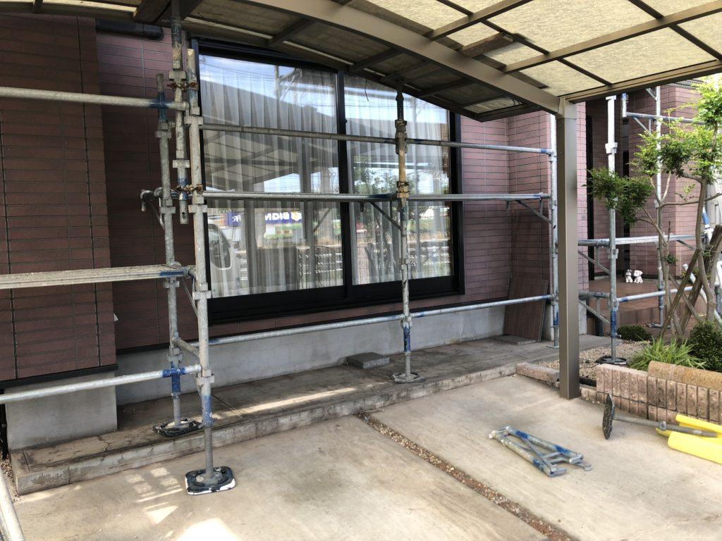 外壁塗装 足場組み