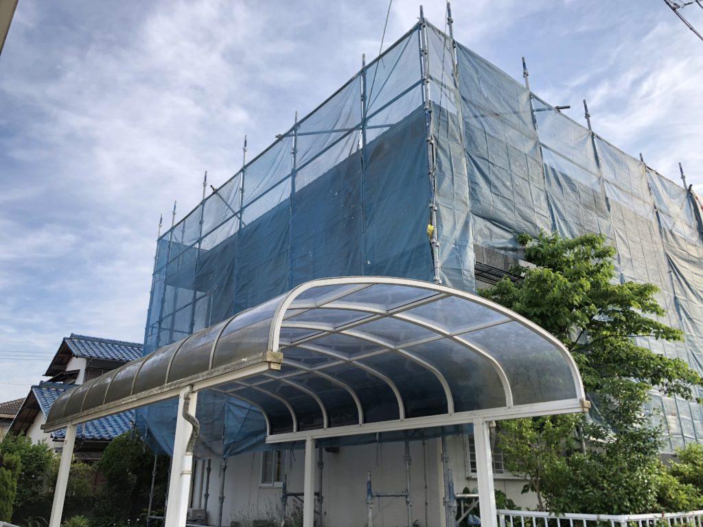 足場仮設 屋根塗装 外壁塗装