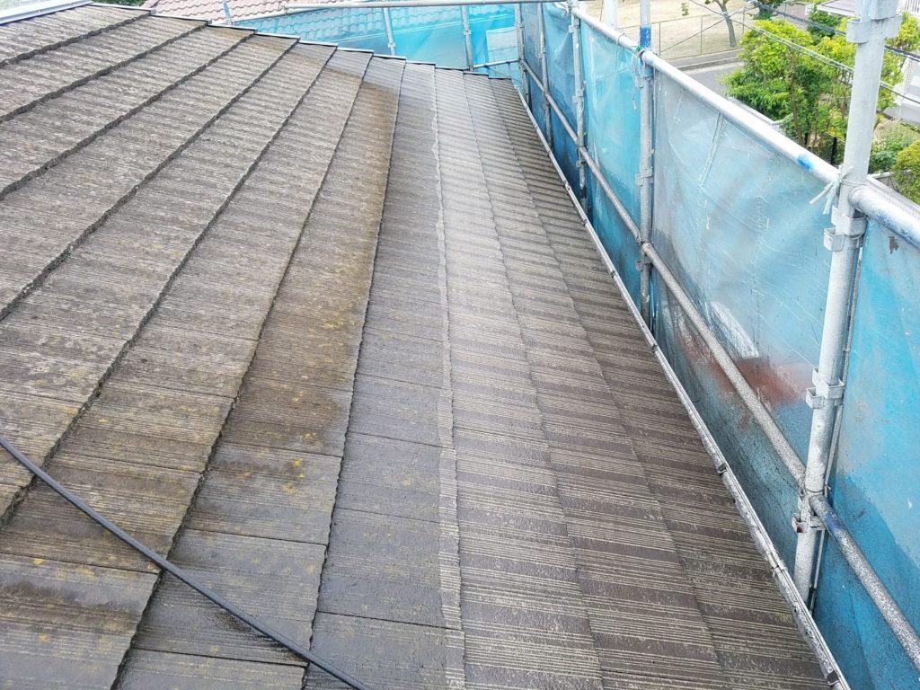 屋根塗装 水洗い