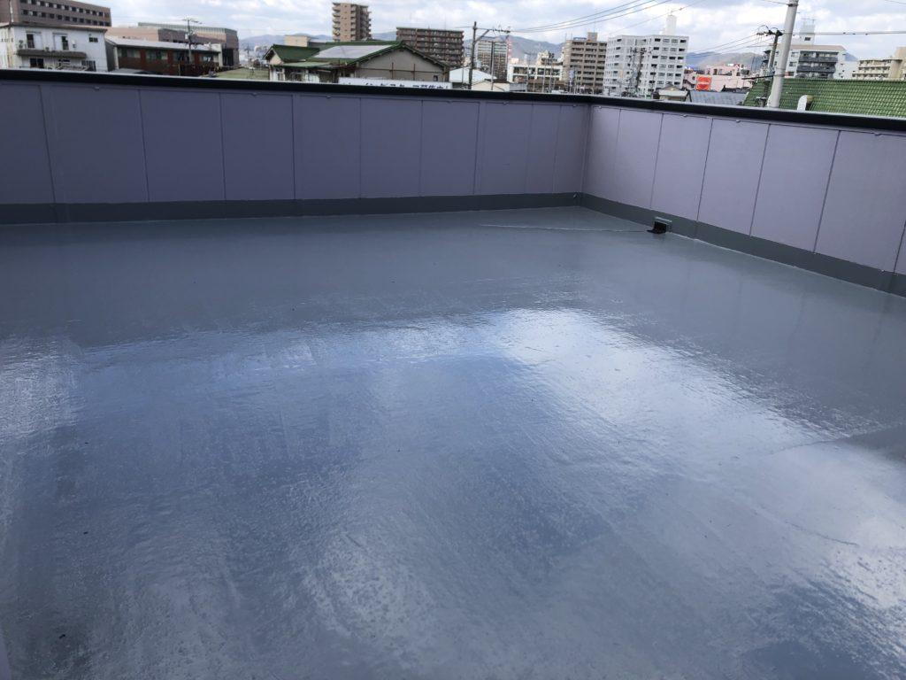 屋上防水 ウレタン塗膜防水 遮熱トップコート