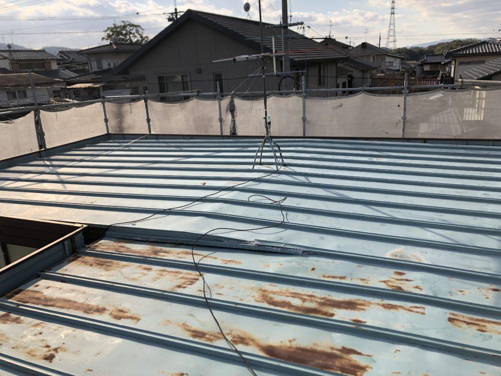 瓦棒鋼板屋根 発錆状況