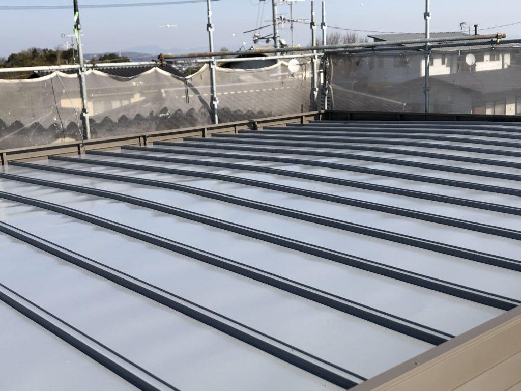瓦棒 鋼板屋根 塗装 倉敷市