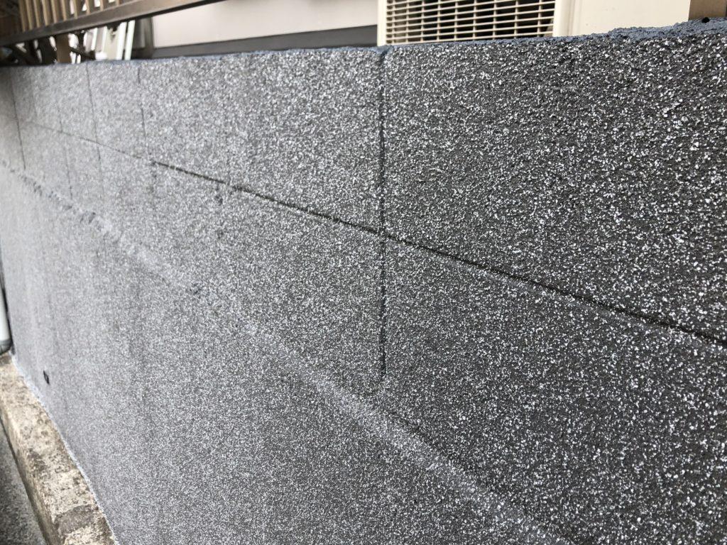 倉敷市 外塀塗装 骨材吹付塗装